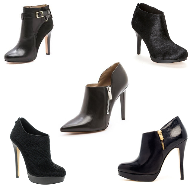 the style trust edit black heeled ankle boots the style